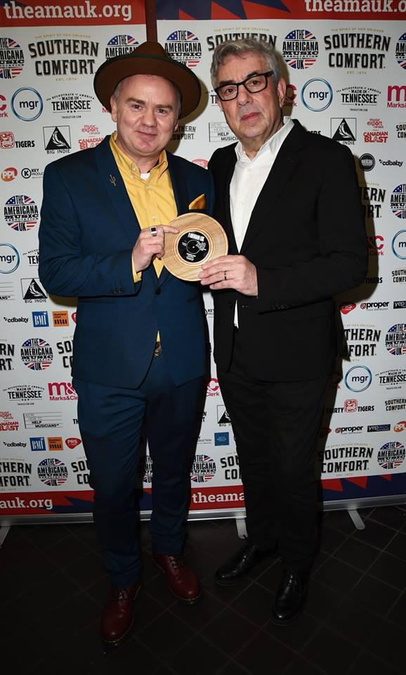 Dean Owens with Graham Gouldman - AMA-UK 2019